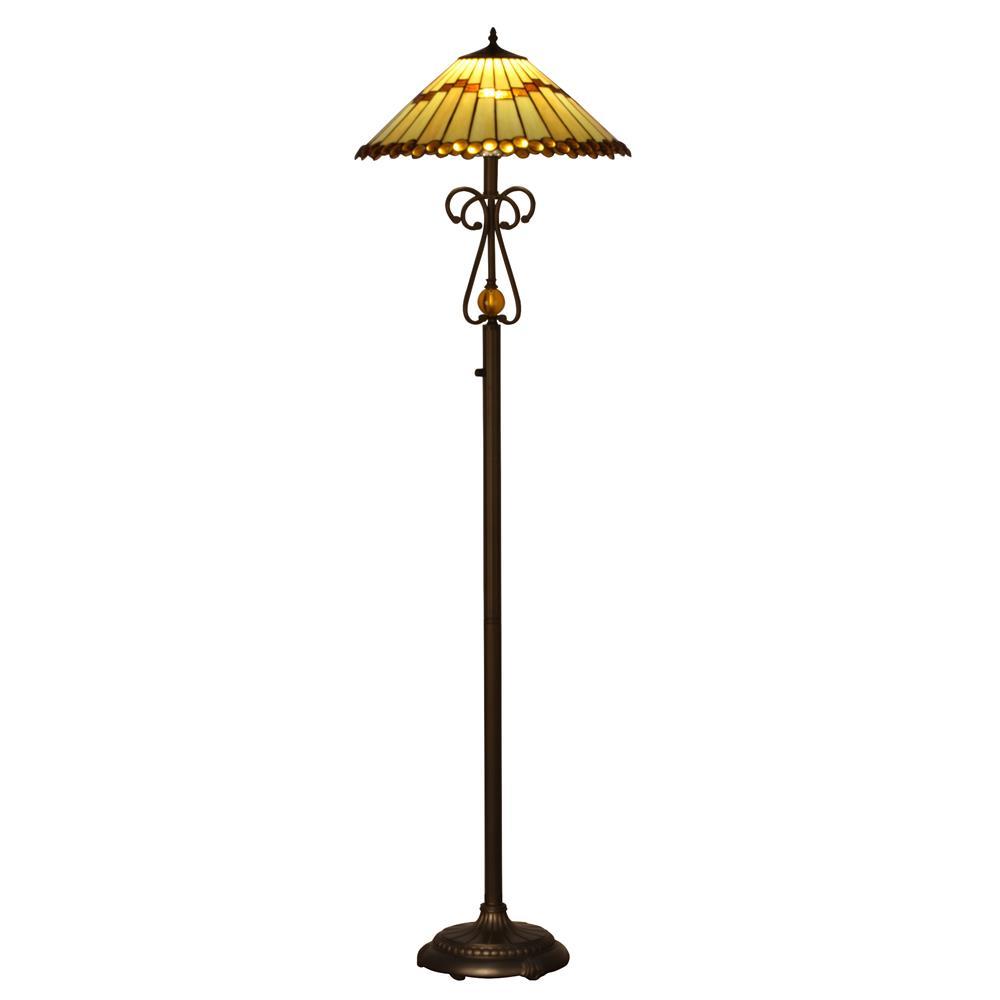 Dale tiffany floor lamps goinglighting for Tiffany floor lamp value
