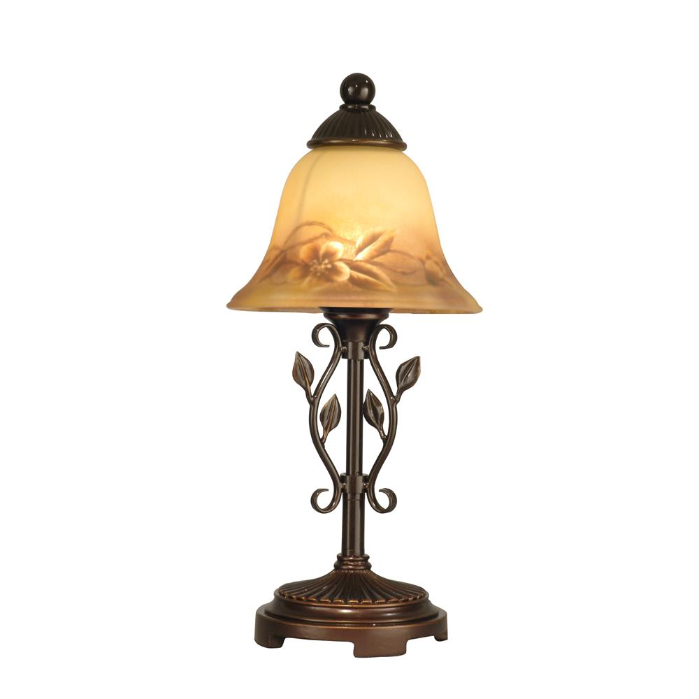 dale tiffany ta80540 leaf vine hand painted mini lamp. Black Bedroom Furniture Sets. Home Design Ideas