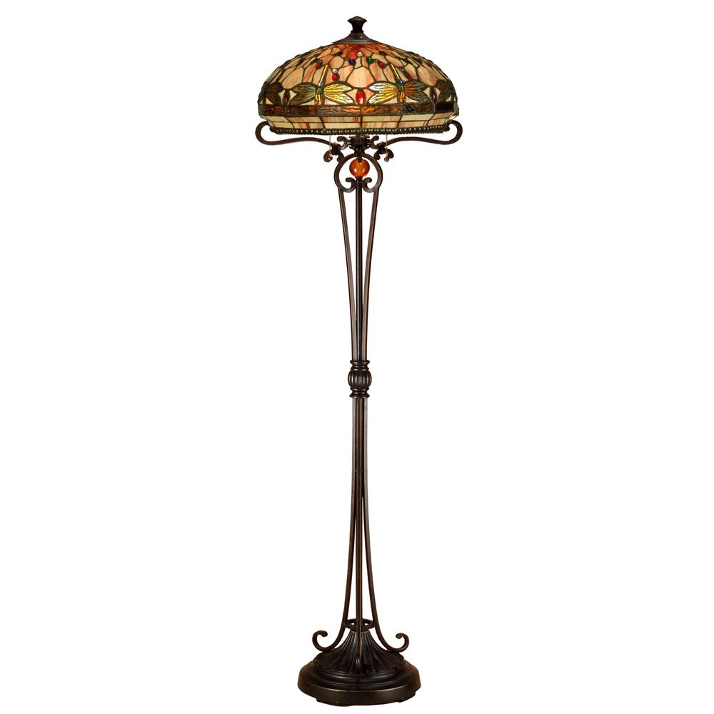 Dale Tiffany TF13066 Briar Dragonfly Floor Lamp