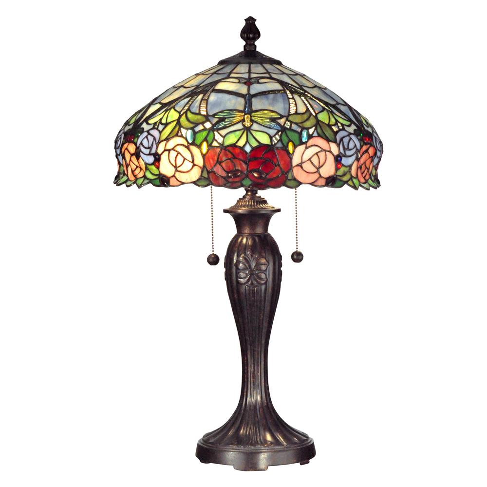 tt12232 dale tiffany tt12232 zenia rose table lamp in fieldstone. Black Bedroom Furniture Sets. Home Design Ideas