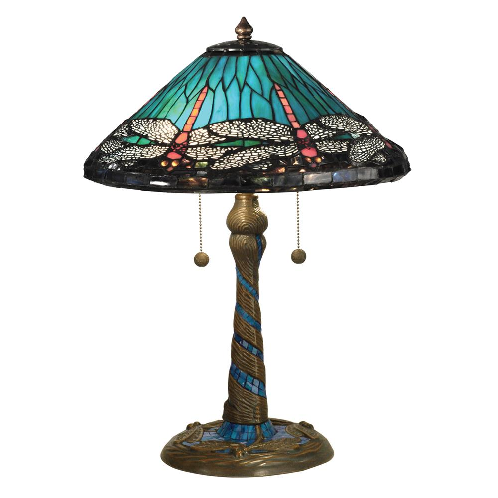 Tt15159 Dale Tiffany Tt15159 Blue Cone Dragonfly Table Lamp