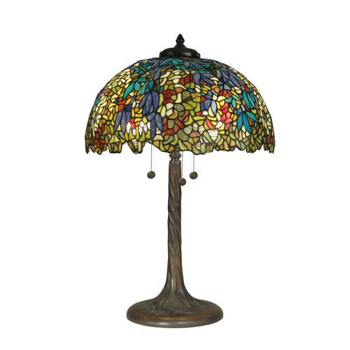 dale tiffany tt90430 victorian 3 light tiffany table lamp with art. Black Bedroom Furniture Sets. Home Design Ideas