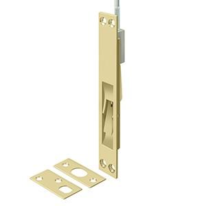 """Deltana 18EFB3-UNL 18"""" Solid Brass Extension Flush Bolt in Unlacquered Brass"""