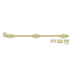 """Deltana 24SB3-UNL 24"""" Heavy Duty Surface Bolt in Unlacquered Brass"""