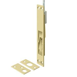 """Deltana 39EFBU3-UNL 39"""" Solid Brass Extension Flush Bolt in Unlacquered Brass"""