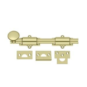 """Deltana 8SB3-UNL 8"""" Heavy Duty Surface Bolt in Unlacquered Brass"""