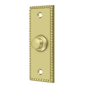 Deltana BBSR333U3 Bell Button, Rectangular Rope