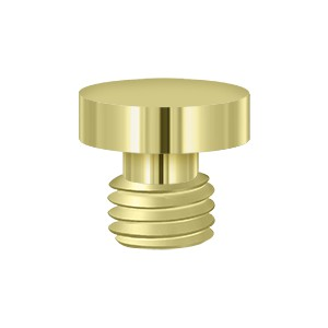 Deltana DSBU3 Solid Brass Button Tip Finial in Polished Brass