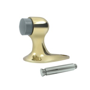 "Deltana FDB218U3-UNL 2 1/8"" Solid Brass Floor Door Bumper in Unlacquered Brass"