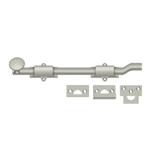 """Deltana FPG1014 10"""" Heavy Duty Surface Bolt with Off-Set in Polished Nickel"""