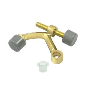 Deltana HP70U3-UNL Hinge Mounted Solid Brass Hinge Pin Stop in Unlacquered Brass