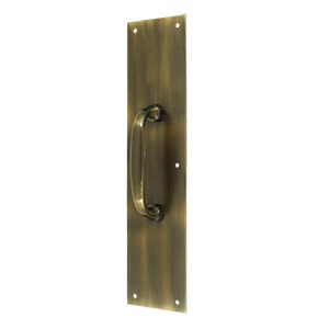 "Deltana PPH55U5 Push Plate w/ Handle 3 1/2""x 15 "" - Handle 5 1/2"""