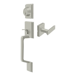 Deltana PRHHLU15 Highgate Handleset with Zinc Livingston Lever Entry
