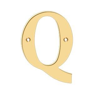 """Deltana RL4Q-CR003 4"""" Residential Letter Q"""