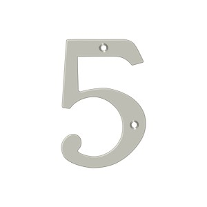 "Deltana RN4-5U15 4"" Numbers, Solid Brass"