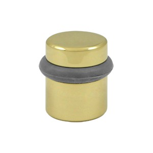 "Deltana UFB4505U4 1 1/2"" Round Solid Brass Universal Floor Bumper in Brushed Brass"