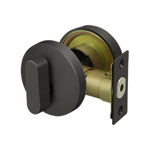 Deltana ZDRU10B Zinc Modern Low Profile Deadbolt Lock Grade 3