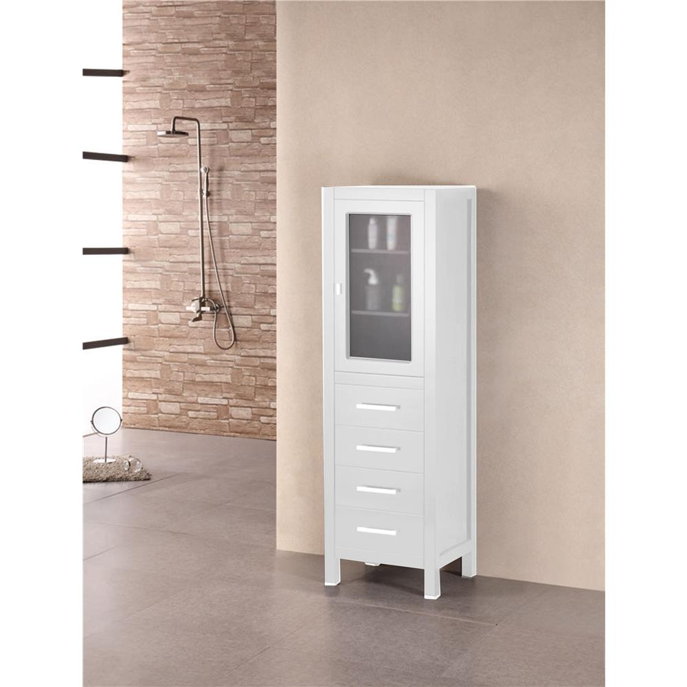 "Design Elements CAB004-W London 66"" Linen Cabinet"