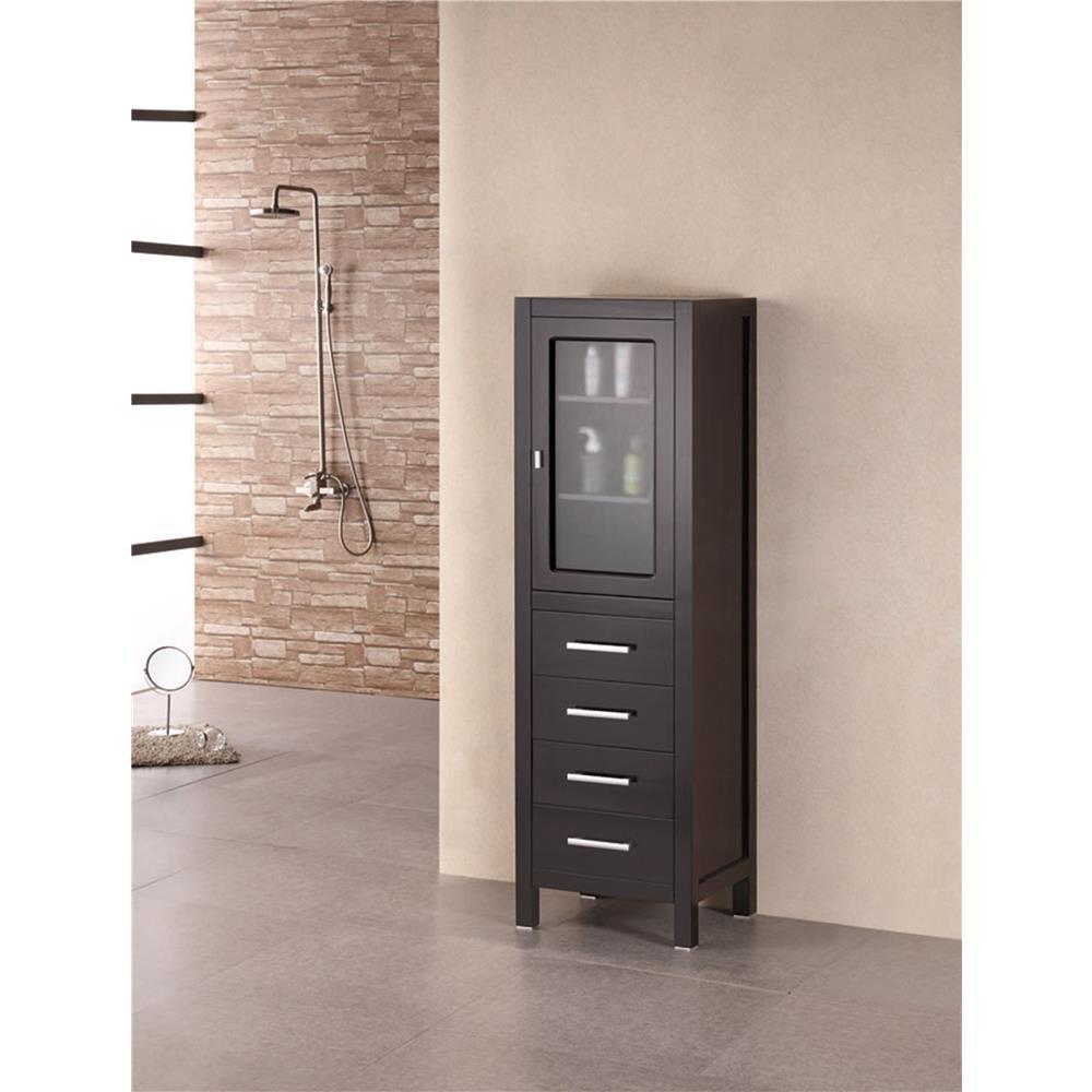 """Design Elements CAB004 London 60"""" Linen Cabinet"""