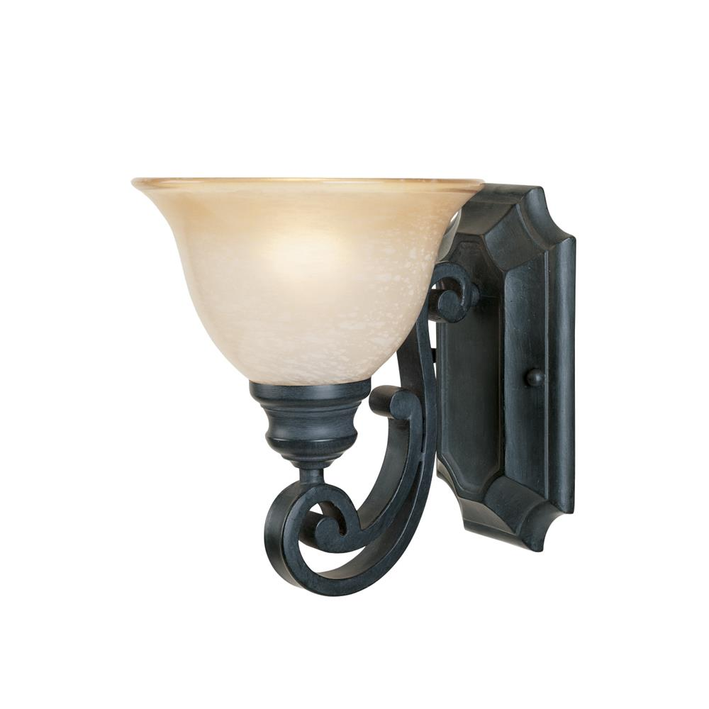 Designers Fountain 96101-NI 1 Light Wall Sconce in Natural Iron (Ochere Finished Glass)