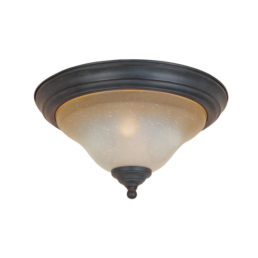 Designers Fountain 96121-NI 2 Light Flush Mount in Natural Iron (Ochere Finished Glass)