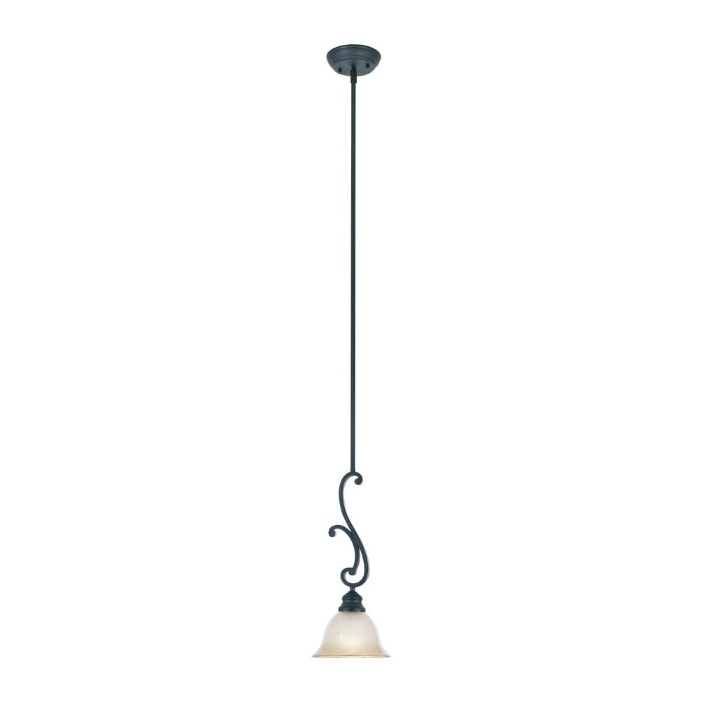 Designers Fountain 96130-NI 1 Light Mini Pendant in Natural Iron (Ochere Finished Glass)