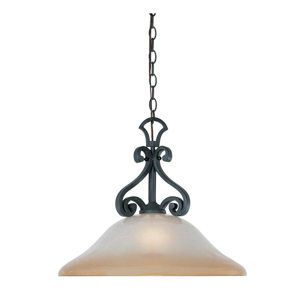 Designers Fountain 96132-NI 1 Light Pendant Downlight in Natural Iron (Ochere Finished Glass)