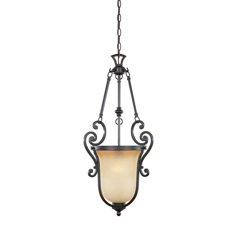 Designers Fountain 96151-NI 1 Light Small Foyer in Natural Iron (Ochere Finished Glass)
