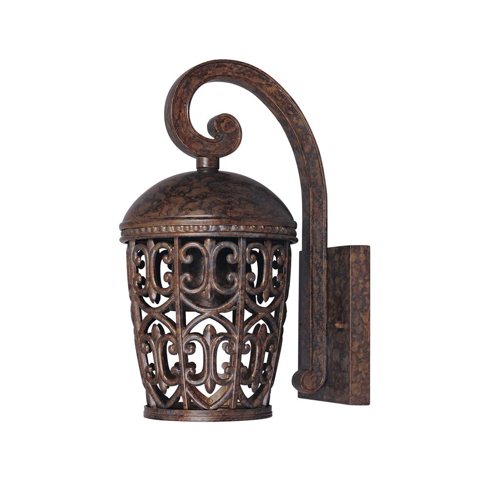 Designers Fountain 97591-BU 6 1/2 inches Wall Lantern in Burnt Umber