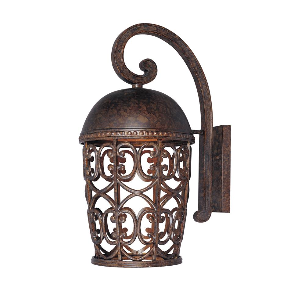 Designers Fountain 97593-BU 10 inches Wall Lantern Dark Sky in Burnt Umber