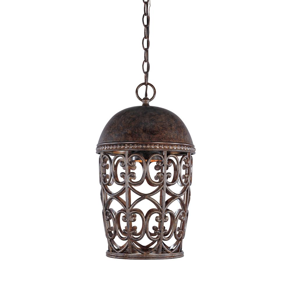 Designers Fountain 97594-BU 10 inches Wall Lantern Dark Sky in Burnt Umber