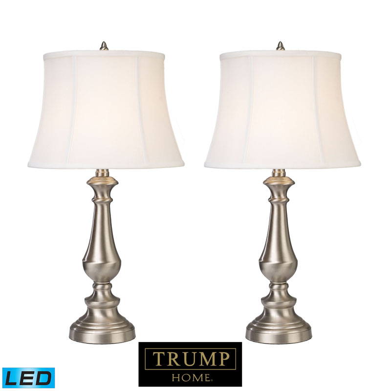 Dimond by ELK D2366/s2-LED Trump Home Fairlawn Table Lamp in Nickel (LED)
