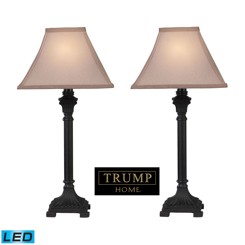 Dimond by ELK D2371/s2-LED Trump Home Woodbury Table Lamp in Brown (LED)