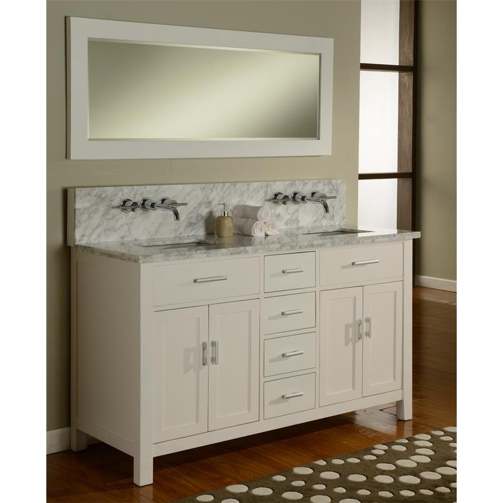 Bathroom sink cabinets white - J J Intenational 63d7 Wwc 63 Hutton Double Bathroom Vanity Set Pearl