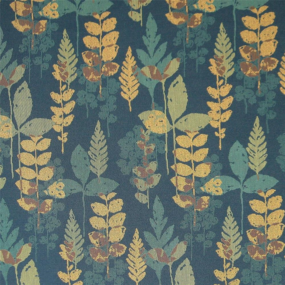 Douglass Industries 1839-360 Palisades  Pressed Leaves Blue Waltz  Crypton Upholstery