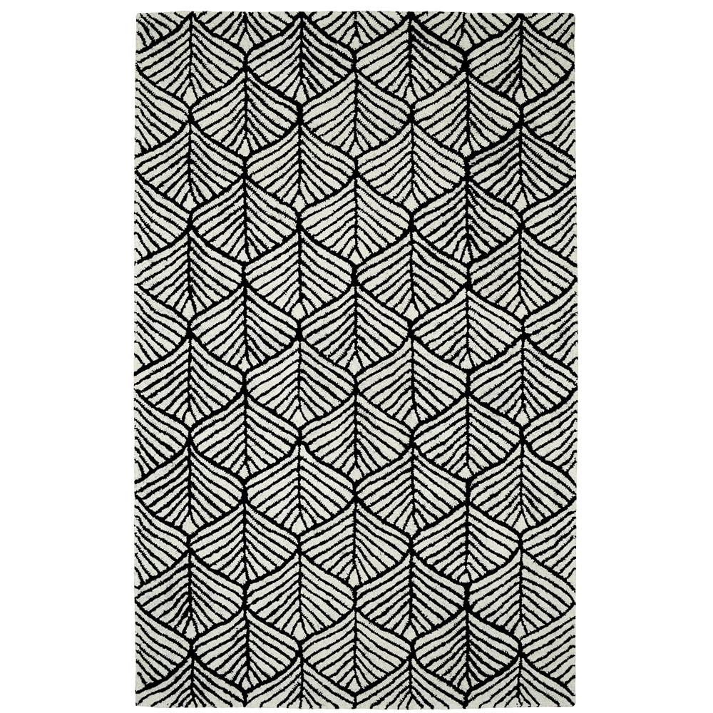 Dynamic Rugs PC245580119     PALACE 2X4 5580-119 BLK/WHITE