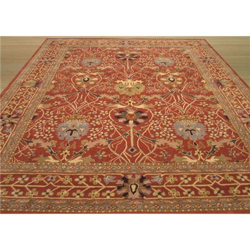 EORC OT31RT EORC Hand Tufted Wool Rust Morris Rug (4
