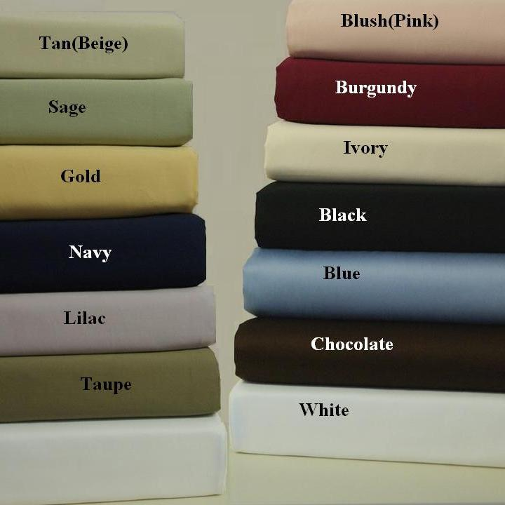 Egyptian Linens 248-1641 NAVY 600 Thread count Solid 100% Egyptian cotton Standard pillowcases Pair