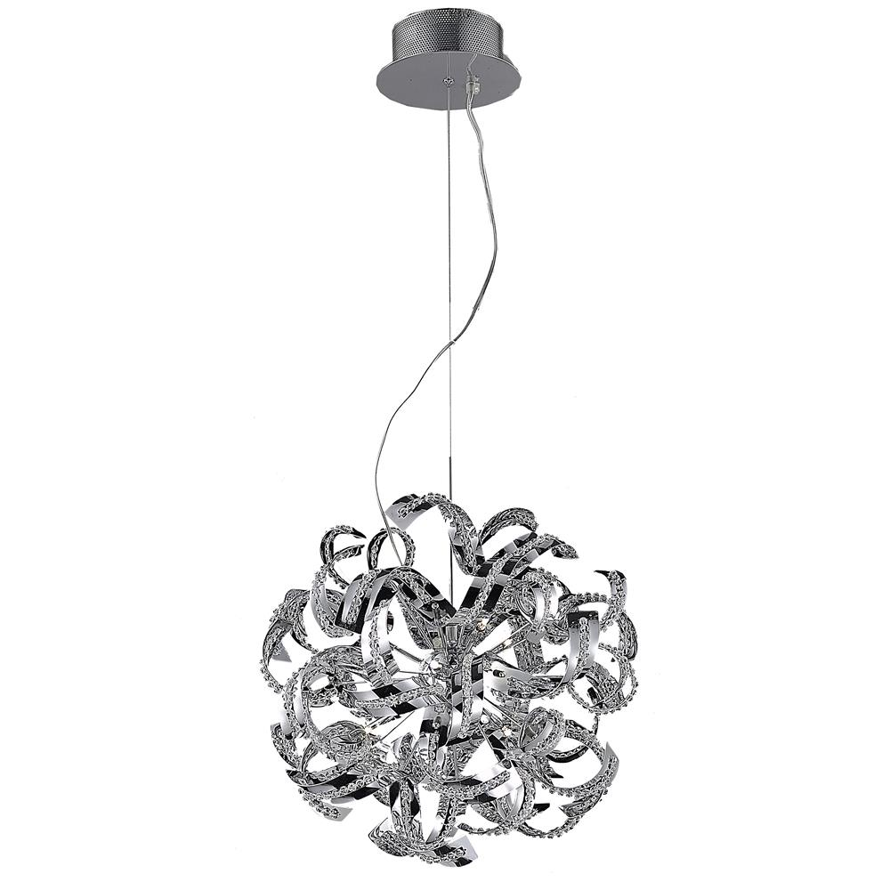 Elegant Lighting 2068D22C/EC Tiffany 13 Light Dining Chandelier in Chrome with Elegant Cut Clear Crystal