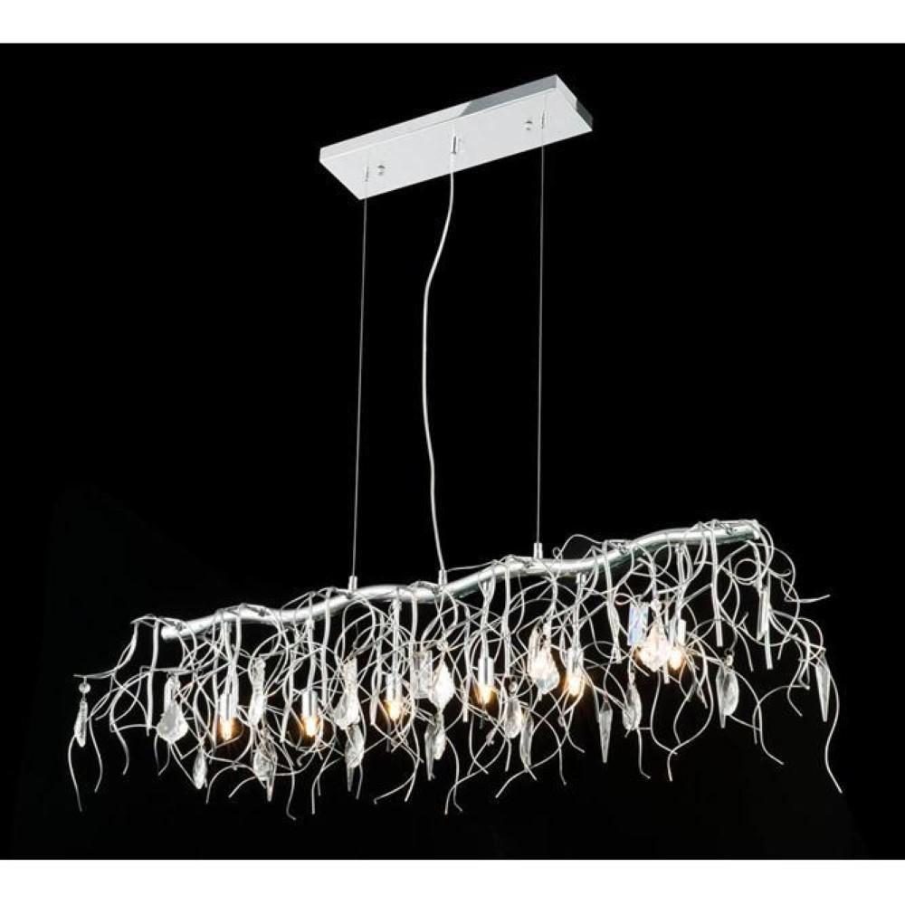 Elegant Lighting 3600D36C/RC 3600 Harmony Collection Hanging Fixture D: 36 H: 12 Lt: 6 Crystal (Royal Cut Crystal)