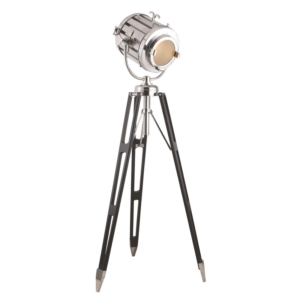 "Elegant Lighting FL1214 Ansel Tripod Floor Lamp D:19"" H:71"" Lt:1 Chrome & Black Finish"