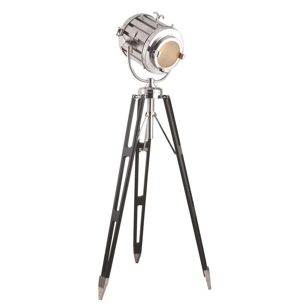 """Elegant Lighting FL1214 Ansel Tripod Floor Lamp D:19"""" H:71"""" Lt:1 Chrome & Black Finish"""