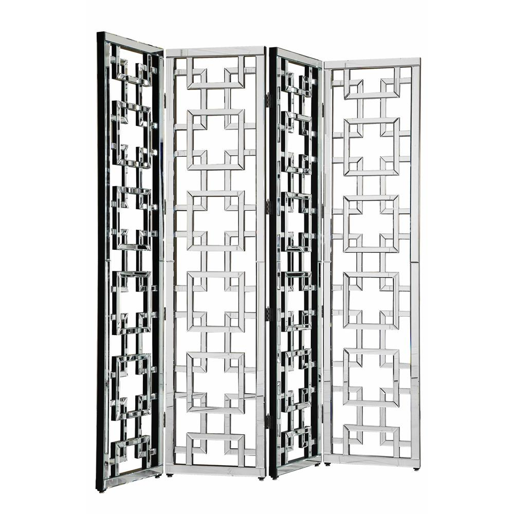 "Elegant Lighting MF-3015C Modern Segmented Mirror 18""x80""Hx4pc CL"