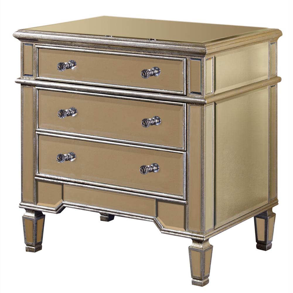 "Elegant Lighting MF1-1002SC Florentine 3 Drawer Cabinet 30""x20""x30""H SC"