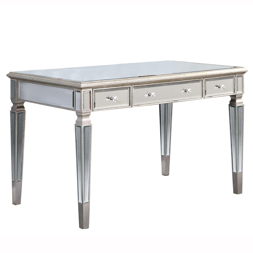 "Elegant Lighting MF1-4002SC Florentine 3 Drawer Desk 48""x28""x30""H SC"