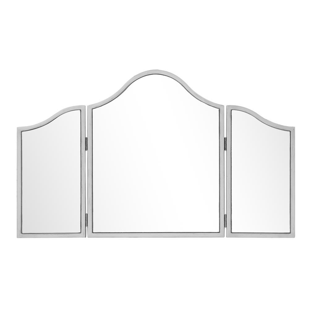 Elegant Lighting MF6-1005S 39 in. x 24 in. Trifold Mirror in Silver