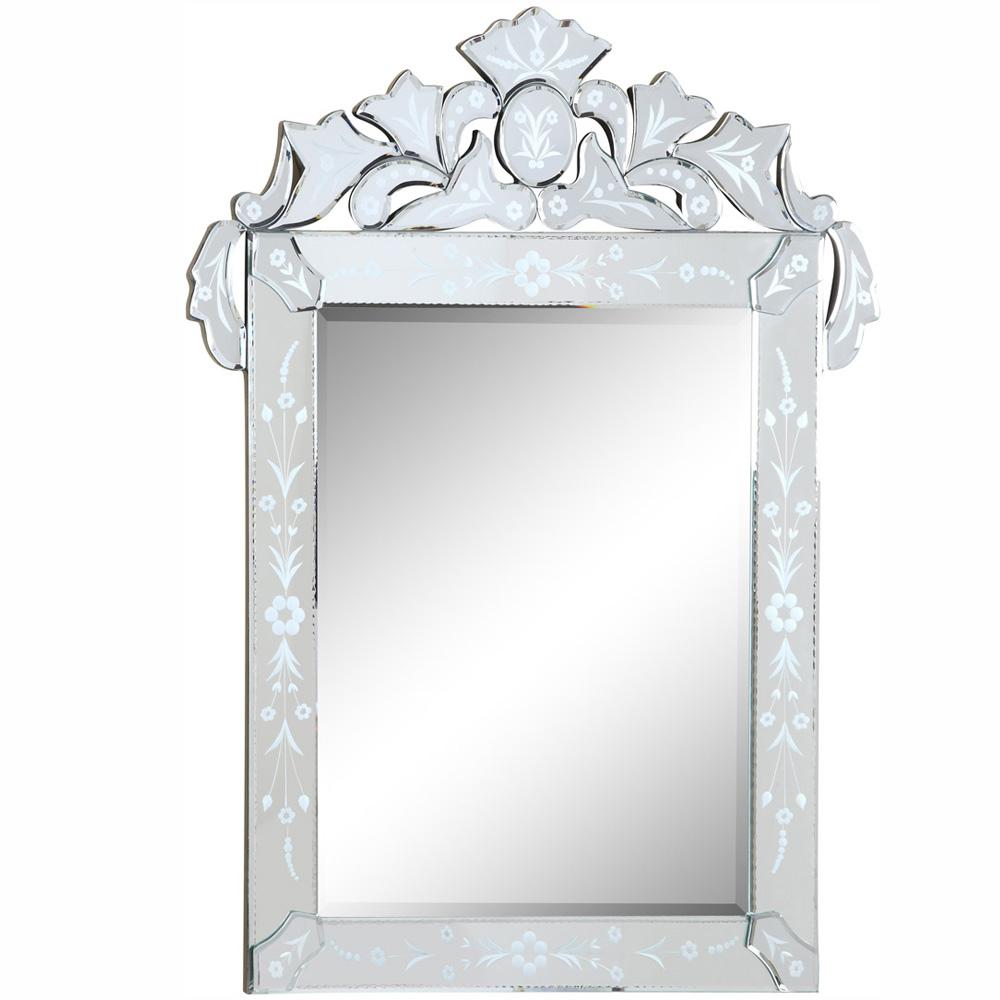 "Elegant Lighting MR-2014C Venetian Mirror 27.6""x.8""x35.8""H CL"