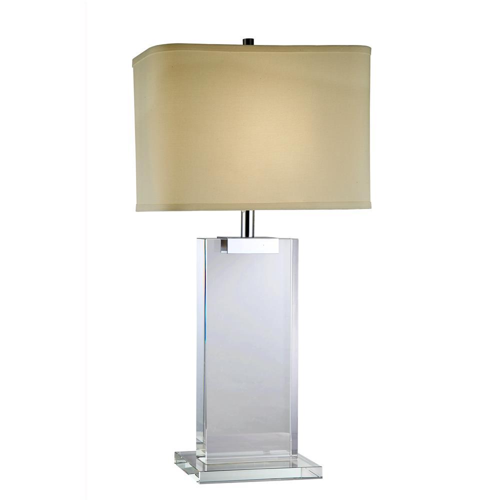 """Elegant Lighting TL1001 Regina  Table Lamp L:16"""" W:8"""" H:30"""" Lt:1 Chrome Finish"""