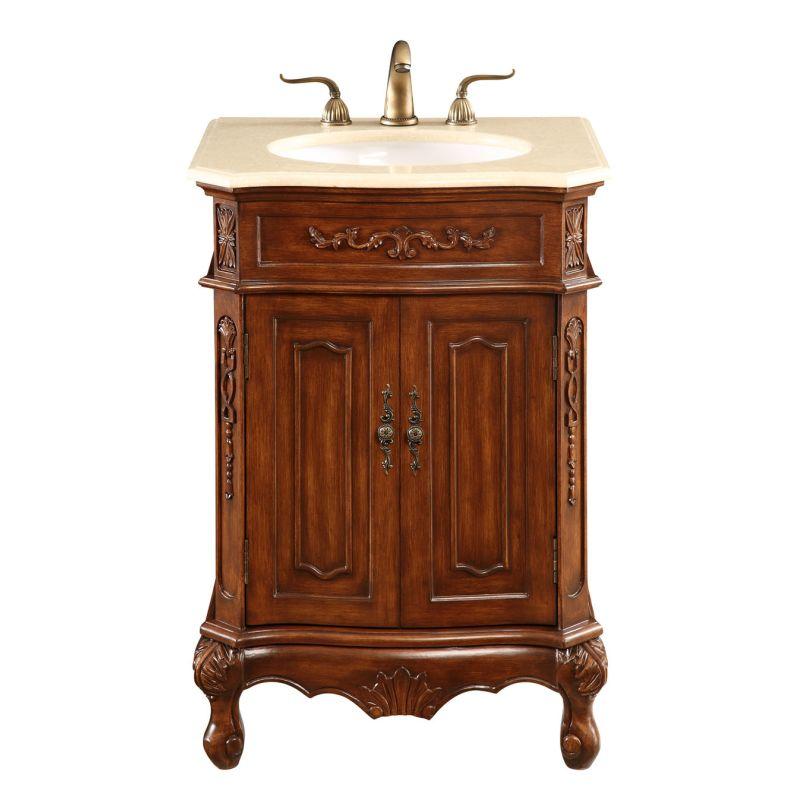 """Elegant Lighting VF-1005 Vanity Cabinet 2 Door 24""""x21""""x35"""" Brown"""