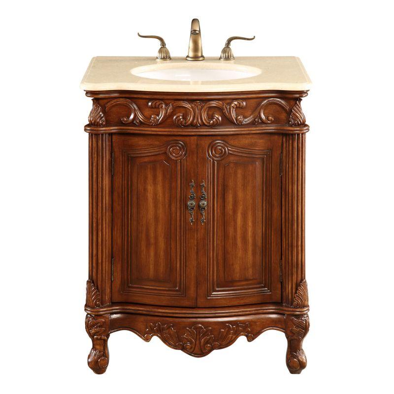 """Elegant Lighting VF-1007 Vanity Cabinet 2 Door 27""""x21""""x35"""" Brown"""